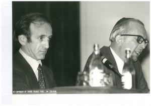 Elie Wiesel et Jean Halpérin