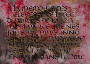 "1.  Eleves de ce Lycee, 2013, 8.5"" x 11.5"""